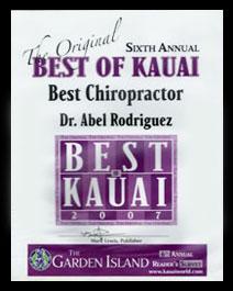 Best Chiropractor 2007 Award
